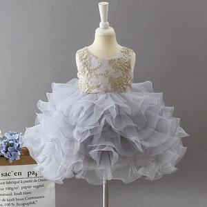 Image 4 - Phong cách mới cho bé kỷ niệm sinh nhật Tiệc Đầm thêu hoa bé gái Công Chúa điệu nhảy đầu tiên trình diễn Đầm
