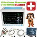 US Seller, Vet Veterinary Patient Monitor 6 Parameter,ECG,NIBP,PR,Spo2,Temp,Resp