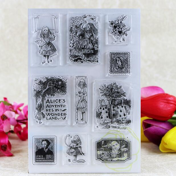 Scrapbook DIY Photo Album Card Rubber Chapter Transparent Seal painting of people  Clear Stamp 106 scrapbook diy photo album card rubber chapter transparent seal month permanent calendar clear stamp 136