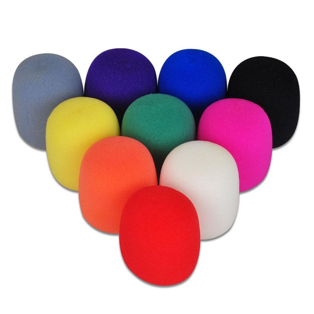 5 Pcs Hot Sale 5 Colors Wireless Handheld Foam Stage Microphone Sponge For Karaoke Microphone Sponge Filter Wind Shield