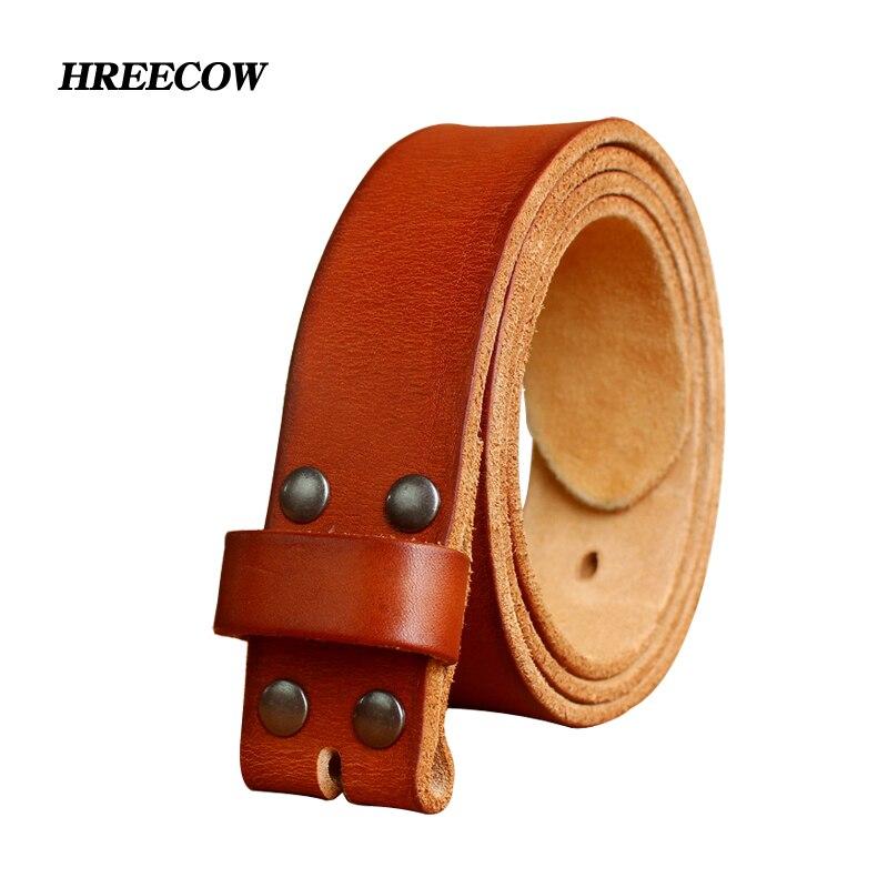 Nuevos cinturones de diseño de alta calidad para hombres hebilla de Pin correa de cuero genuino Ceinture Homme, sin hebilla