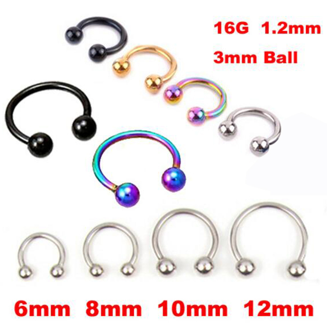 2 Pieces Surgical Stainless Steel Circular Barbells