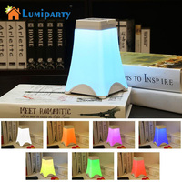 LumiParty Portable LED Night Light USB Charging Tower Shape Table Lamps Touch Sensor Dimmable Bedside Lamp Auto-off Timer