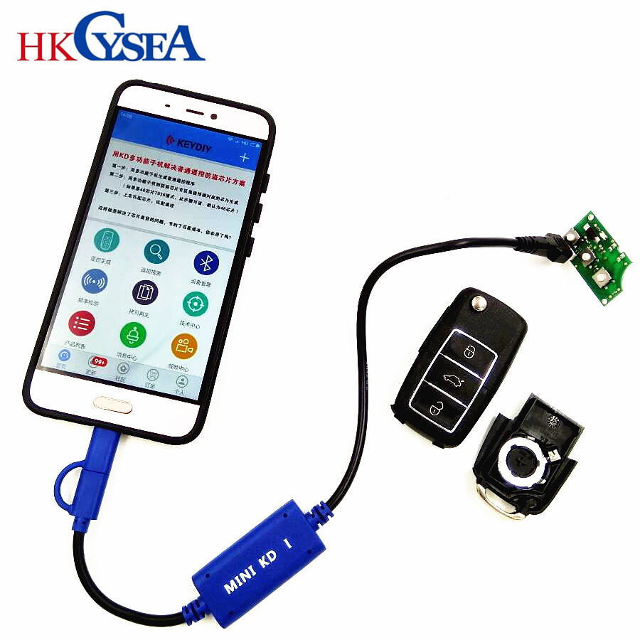KEYDIY Mini KD Key Generator Remotes Warehouse in Your Phone Support Android Make More Than 1000 Auto Remotes Similar KD900