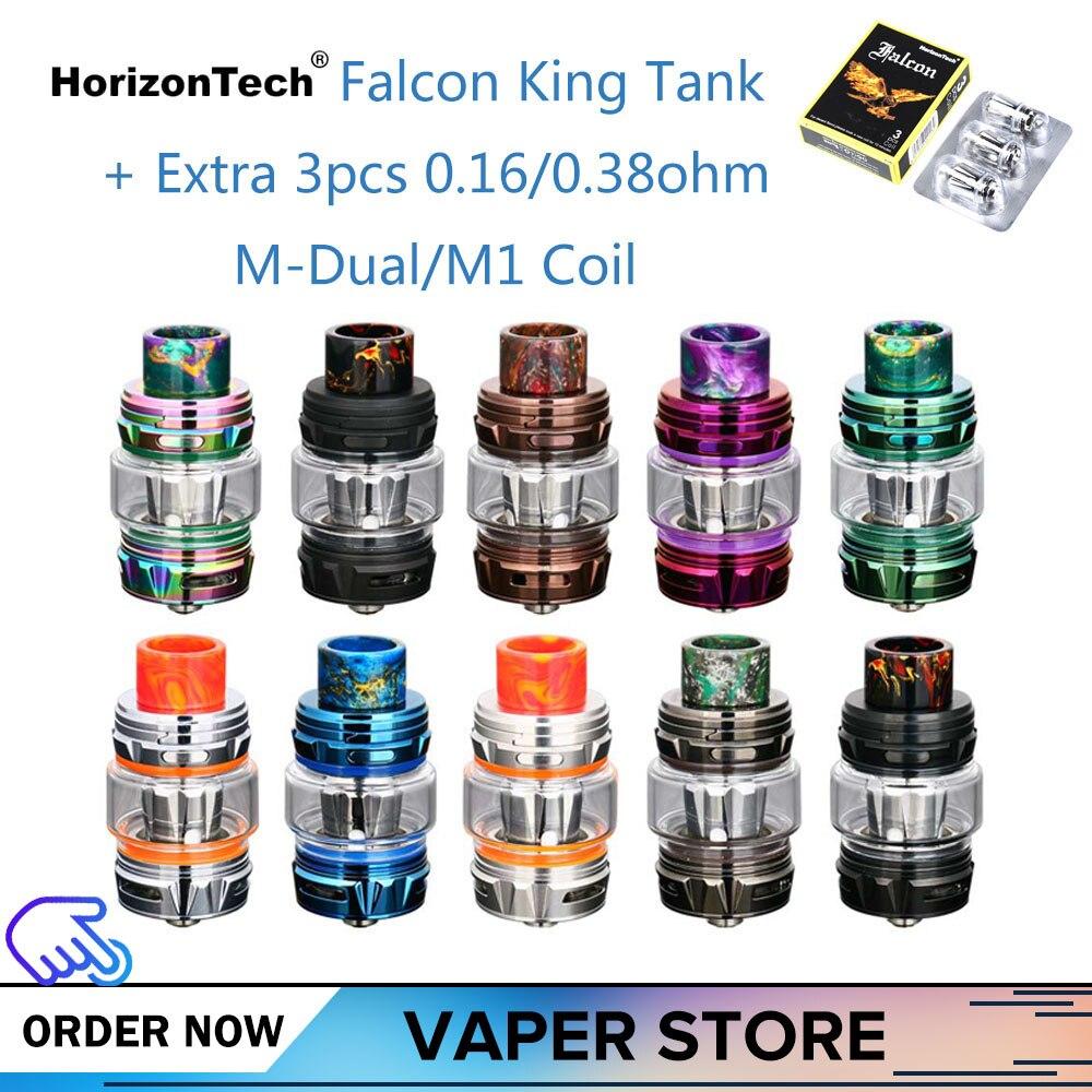 Original HorizonTech Falcon roi réservoir ampoule Vape réservoir 6 ml capacité atomiseur ajouter 3 pièces M1 +/M-double bobines tête de base E-Cigarette