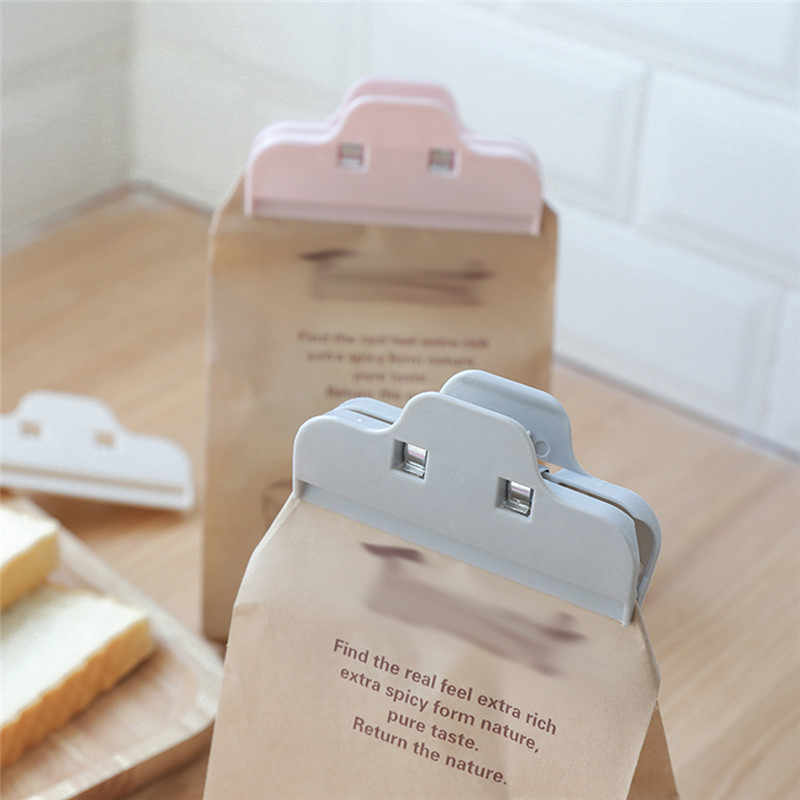 1pcs Snack Bag Clips Food Bag Clips Kitchen Tool Home Food Close Clip for Food Preservation Moisture-proof Plastic Bags