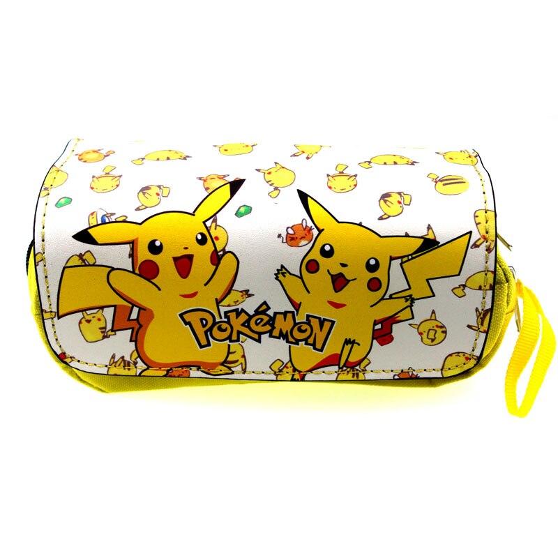 Cartoon Pokemon Pencil Case Pikachu Pen Bag School Supplies Makeup Bags Zipper Bag