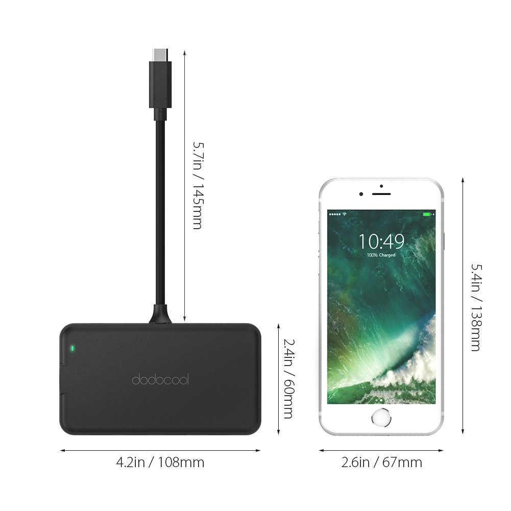 Dodocool USB Hub 8 في 1 متعددة الوظائف نوع c Hub 4K HD جيجابت إيثرنت محول USB 3.0 Hub لسامسونج غالاكسي S9 هواوي P20 برو