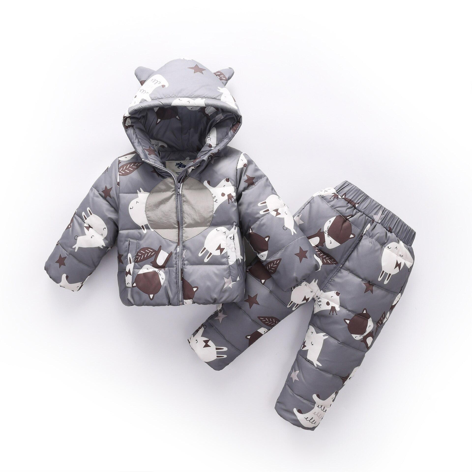 2018 Russian Winter Children Sets Clothing Warm Duck Down Jacket for Baby Boy Girl Children's Coat Snow Wear Kids Suit 1-3Years цена