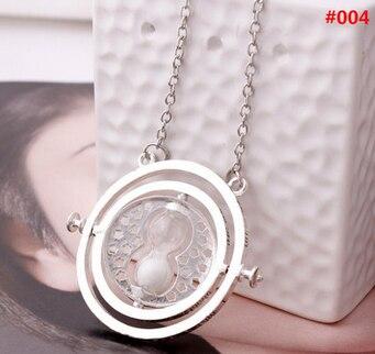 משלוח DHL 100 יח'\חבילה סיטונאי תכשיטים פוטר זמן טרנר תליון שרשרת חול זכוכית שרשרת לנשים