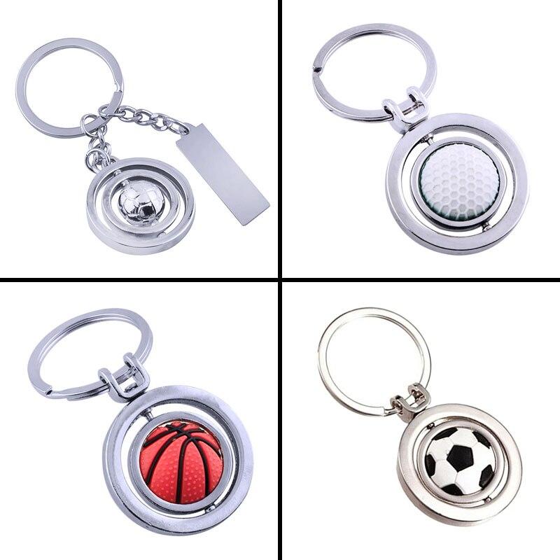 3d Basketball Schlüsselanhänger Rotierender Ball Mit Schlüsselring Fanartikel Schlüsselanhänger