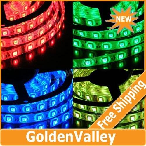 $10 off per $300 order 5050 SMD 5M 150 Led Waterproof RGB LED Flexible Light Strip + 24 key Remote + IR controller