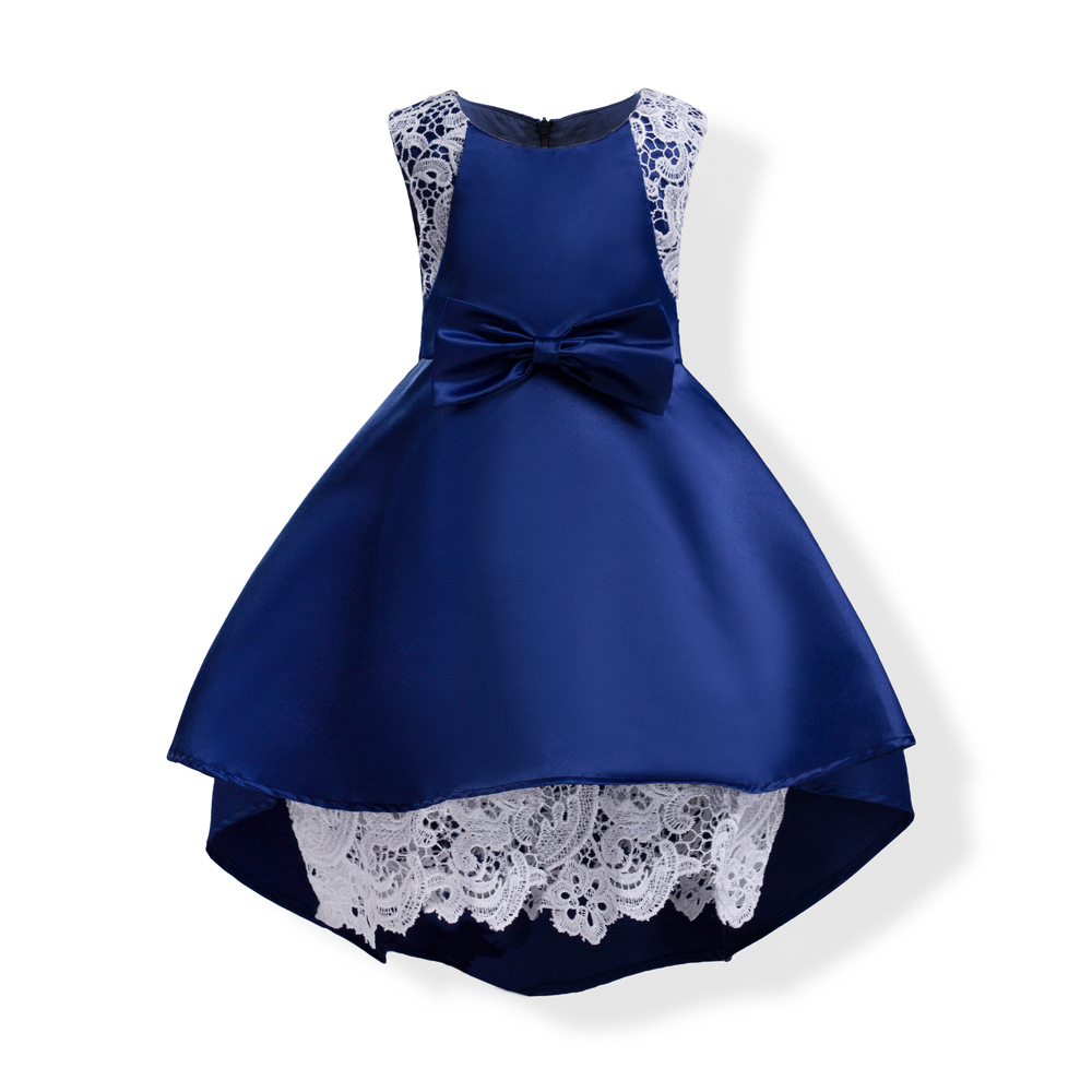 2017 kids dresses for girls dress baby lace clothes toddler winter princess dress clothing Bow luxury  for party and wedding toddler kids baby girls princess dress party pageant wedding dresses with waistband