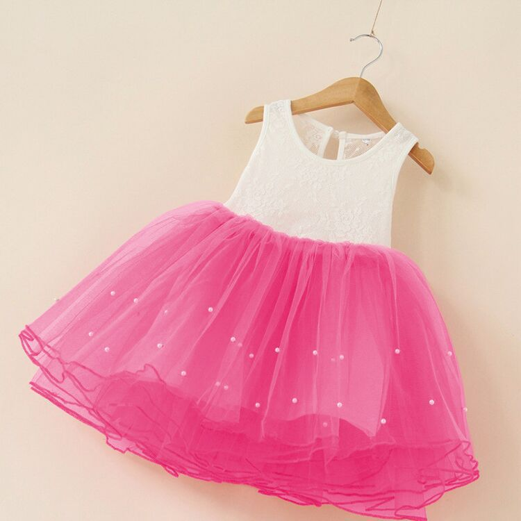 New 2019 Flower Girl Party Dress Baby Birthday Tutu Dresses For Girls Lace Vest Baptism Pearls Kids Wedding In From Mother