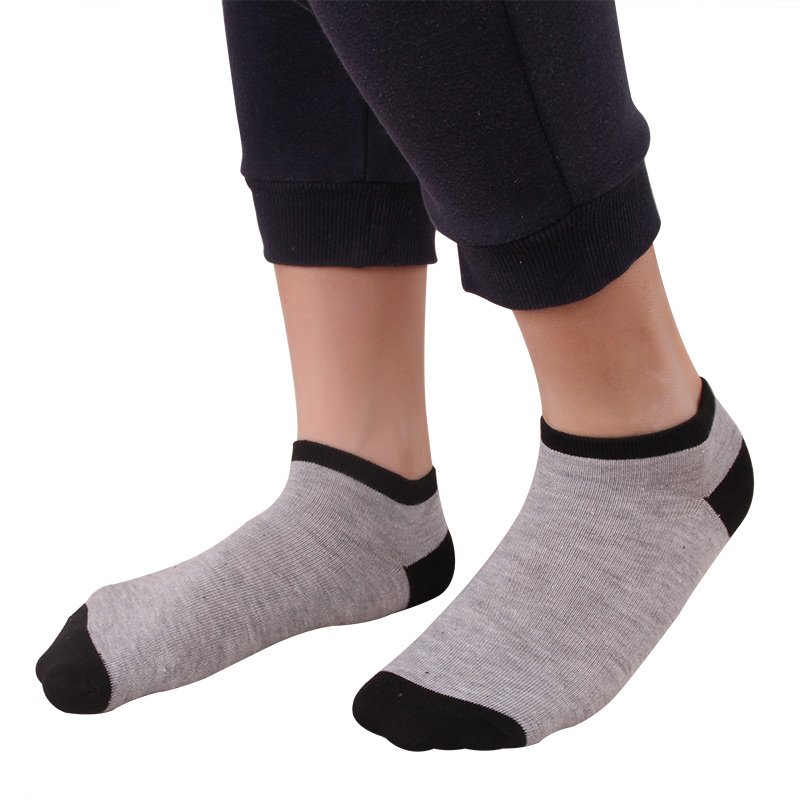 10Pairs Men Socks Cotton Fashion Casual Splice Mouth Style Ankle Sock Summer Comfortable Breathable Deodorant Male Sock Adult