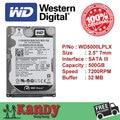 Western Digital WD Preto 500 GB hdd 2.5 SATA disco duro sabit laptop interno hard disk drive hd notebook disco rígido interno disque