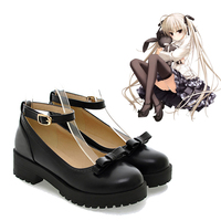 Japan Anime Kasugano Sora Cosplay Black Shoes In solitude, where we are least alone Customer Size Made Anime Cosplay