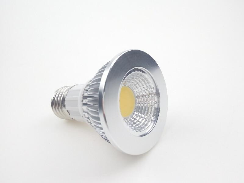 Dimmable COB LED Spotlight Bulb Par20 E27 5W 3W 110V 220V for Indoor Lighting Decorative Bubble Modern Design CE ROSH WW CW 2015 new design professional 100w cob led spotlight led par light for sale
