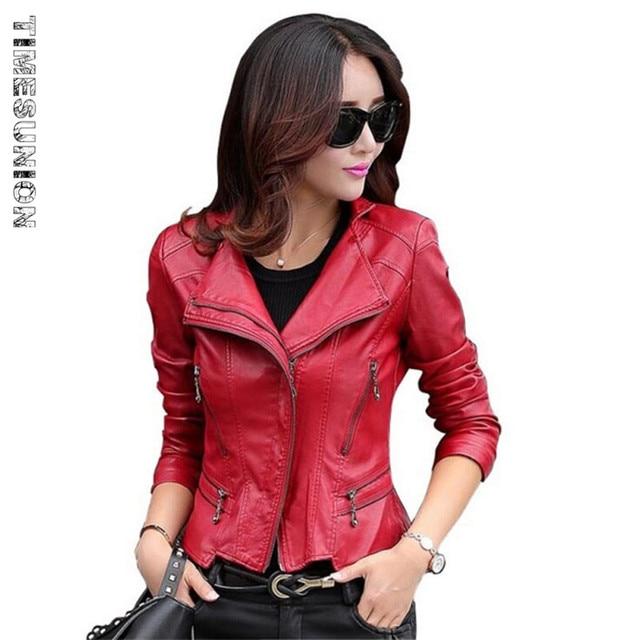 Женщины Кожаные Куртки 2016 Новых женщин Большой Размер Смеси овчины кожаная куртка и пальто, женщин короткий дизайн мотоцикла куртка