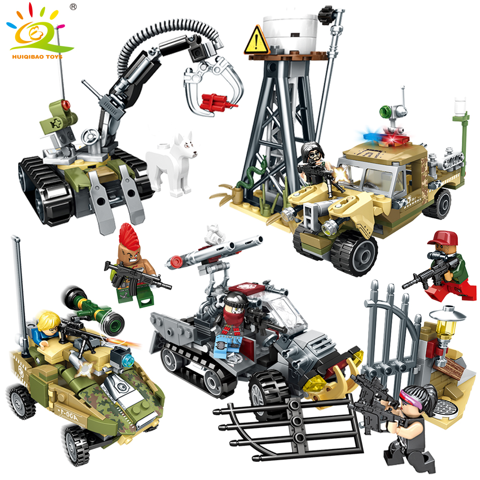 Military series trucks building blocks compatible legoed city Police figures Bricks soldier weapon Educational toys for children 0367 sluban 678pcs city series international airport model building blocks enlighten figure toys for children compatible legoe