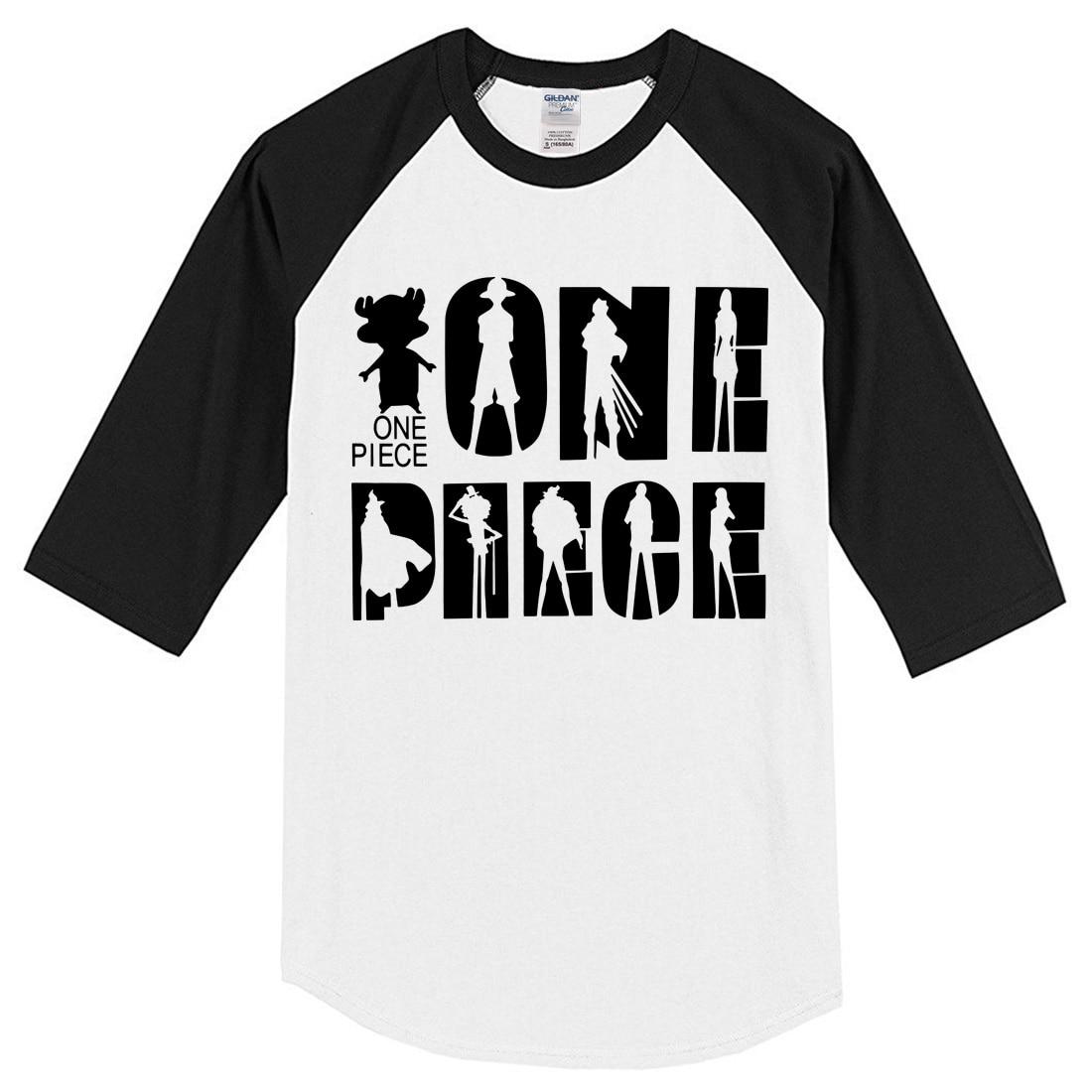 T-shirt for men summer 2019 cotton tshirt three quarter sleeve raglan men's sportswear Japan Anime One Piece fashion brand top