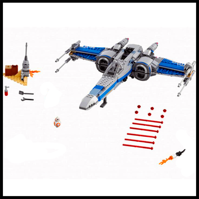 Lepin 740Pcs Building Blocks Toy Poe's X-wing Fighter Assemble Figure Educational Brick Brinquedos For Children Compatible Legoe mastech ms8260f 4000 counts auto range megohmmeter dmm frequency capacitor w ncv
