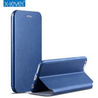 X Level Business Style Leather Flip Phone Case For Apple Iphone 7 6 6s 6 Plus