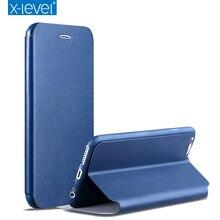 X уровня бизнес-стиль кожа флип чехол для телефона Apple iPhone 7 6 6S 6 Plus 6S плюс Роскошный чехол iPhone 7 Plus случаях