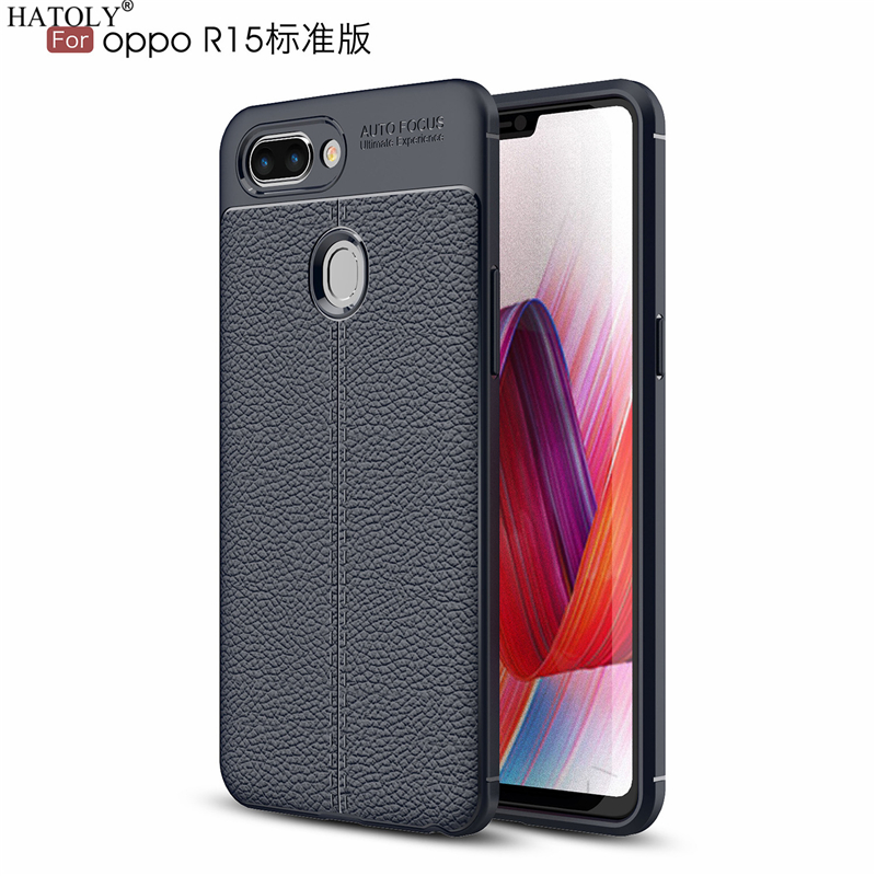 HATOLY Case For OPPO R15 Pattern PU Leather Dirty Resistant Soft TPU Silicone Back Cover Cases for OPPO R15 r 15 6.28