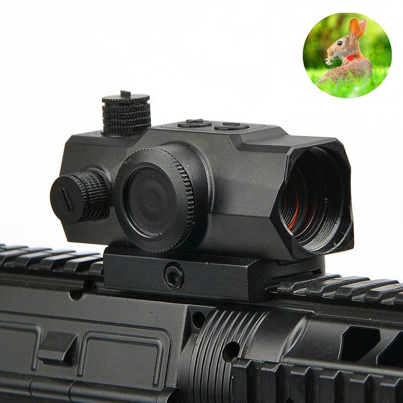 1x22 20-22 MILÍMETROS Ferroviário Holográfica Ponto Vermelho Caça Optics Scope com Mini Red Dot Mira Reflex para Airsoft Rifle Scope