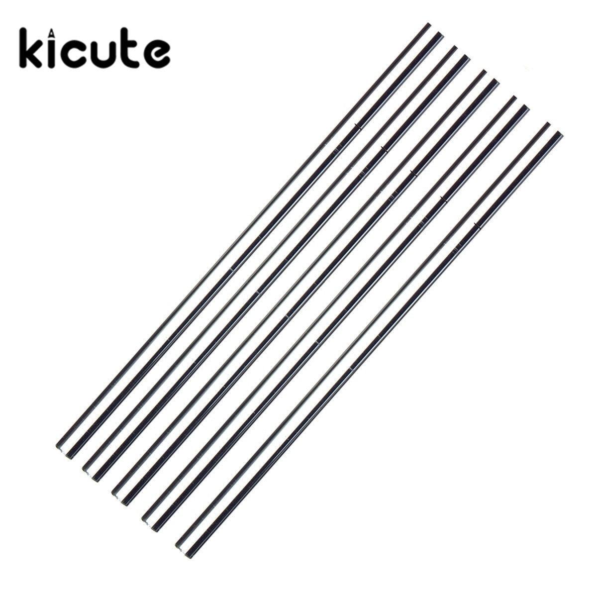 KiCute 5pcs/Set Glass Stirring Rod For Lab Use Stiring Stirrer Laboratory 150mmx5mm Transparent School Tools Glass Buret Mixer