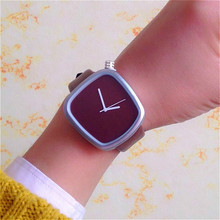 2017 Gift cool colour Minimalist style wristwatch creative design square face simple stylish with quartz fashion watch