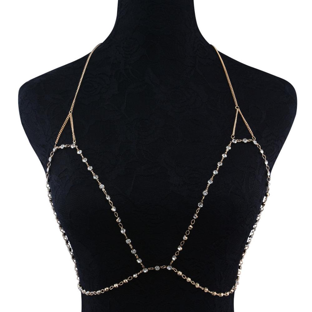 HTB189YmRXXXXXX5XVXXq6xXFXXX3 Faux Crystal Encrusted Bikini Chain Bra