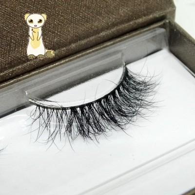 2016 New 1 Pair Hig Quality 3D Fashion Bushy Mid Cross False Eyelashes Mink Hair Handmade