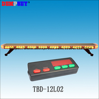 High quality TBD 12L02 LED Super thin lightbar,amber construction emergency light,DC24V Car Roof strobe warning light