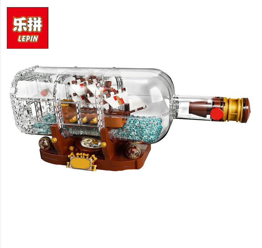 2018 New Lepin 16051 Movie Series the 21313 Ship in a Bottle Set Building Blocks Bricks Creator Toys Kid Children Birthday Gifts 8 in 1 military ship building blocks toys for boys