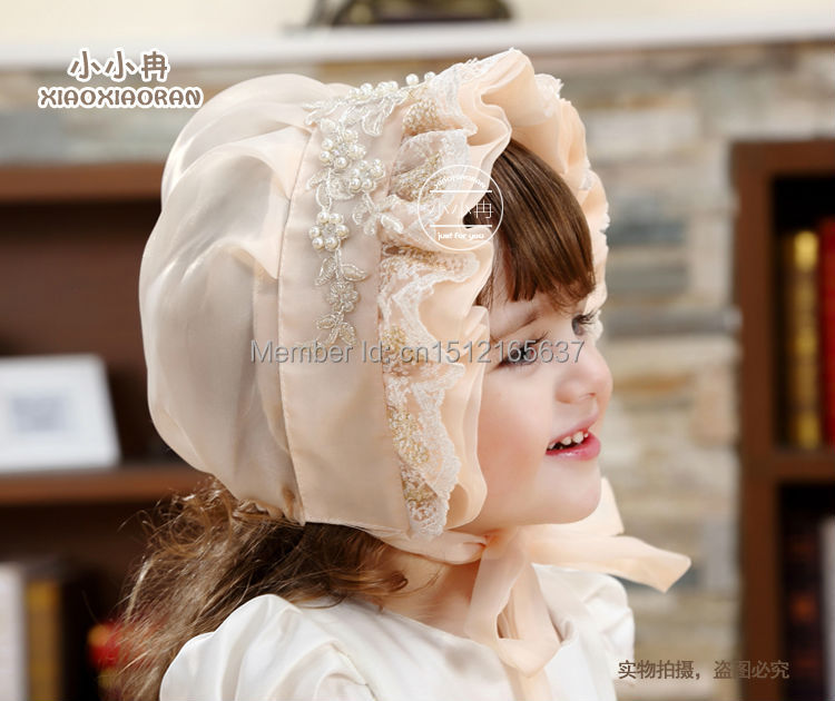 2016 Elegant Baby Girl Embroidery Cap Princess Hat Kids Bonnet Factory Price - My Handmade store