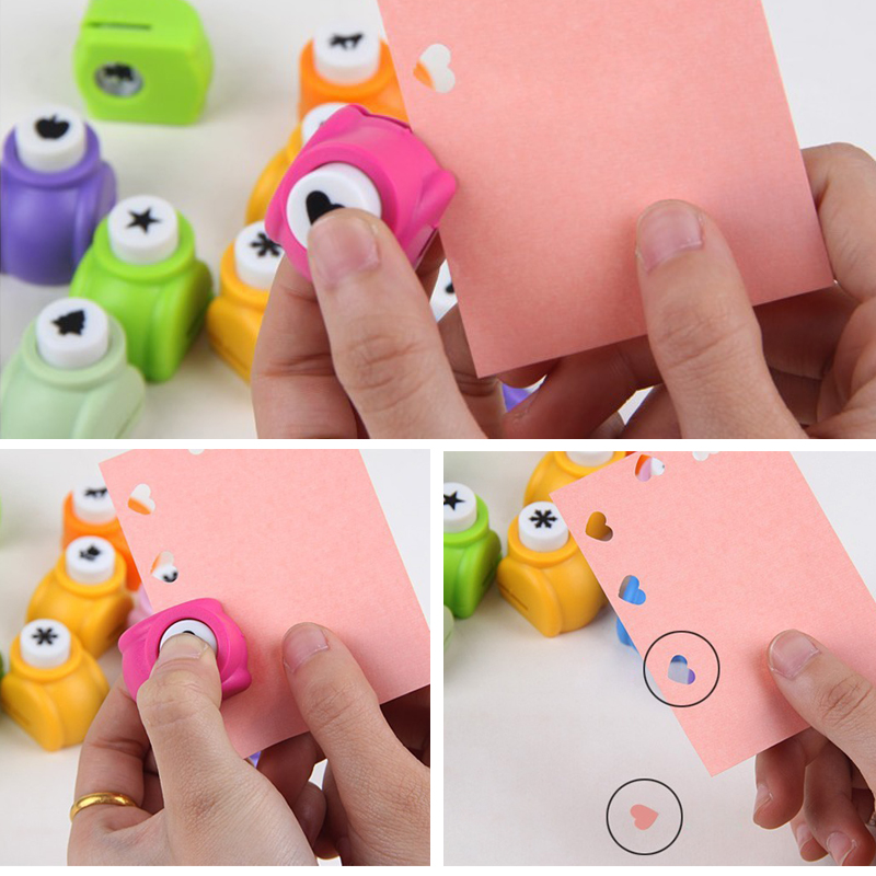 Multi-style DIY Craft Hole Puncher Child Mini Scrapbook Embossing Punch Hole Paper Handmade Cutter Tool School Student Supplies стоимость