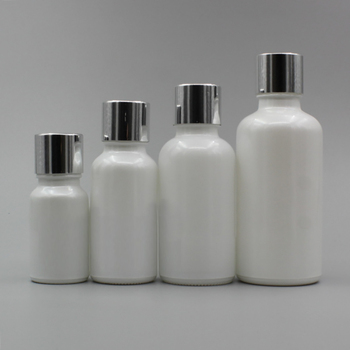 Essential Oil Empty Bottle Glass Pearl White 30ml with Screw Cap,100pcs/lot for Sale