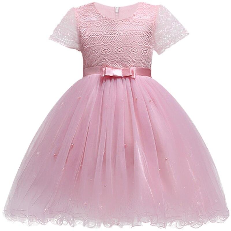 06e91f96c Niñas vestido formal banquete ceremonia estéreo flores blanco princesa Niña  de la flor para la niña ropa del bebé