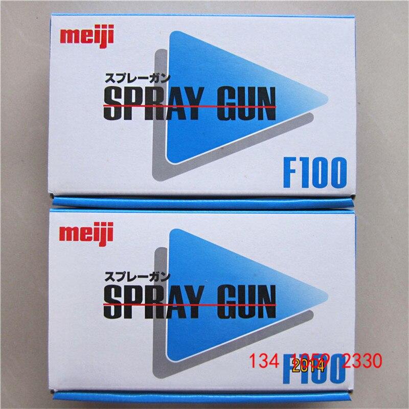 Image 5 - free shipping,original Japan F 100 gravity Meiji Spray Gun, F100 painting gun, 1.0 1.3 1.5mm nozzle size to choose, car painting-in Spray Guns from Tools