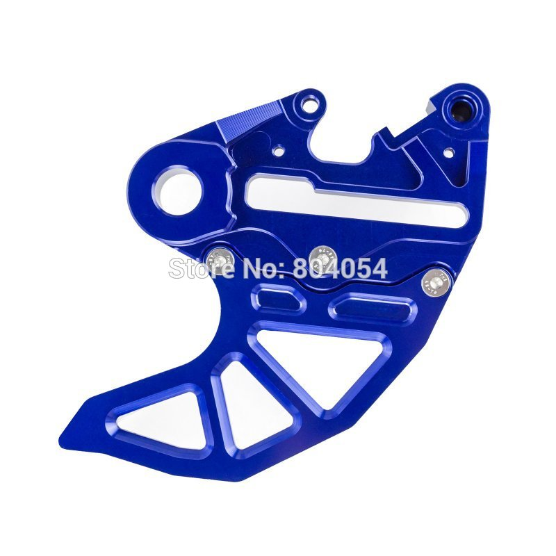 ФОТО Blue CNC Brake Caliper Support with Brake Disc Guard  For KTM SX EXC 125 250 350 450 2004-2015