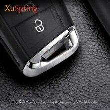 Per VW Tiguan 2018 MK2 Touran MK2 Golf 7 7.5 Teramont Auto Refit Chiave di Base Contorno Copertura Trim Sticker Auto accessori per lo styling