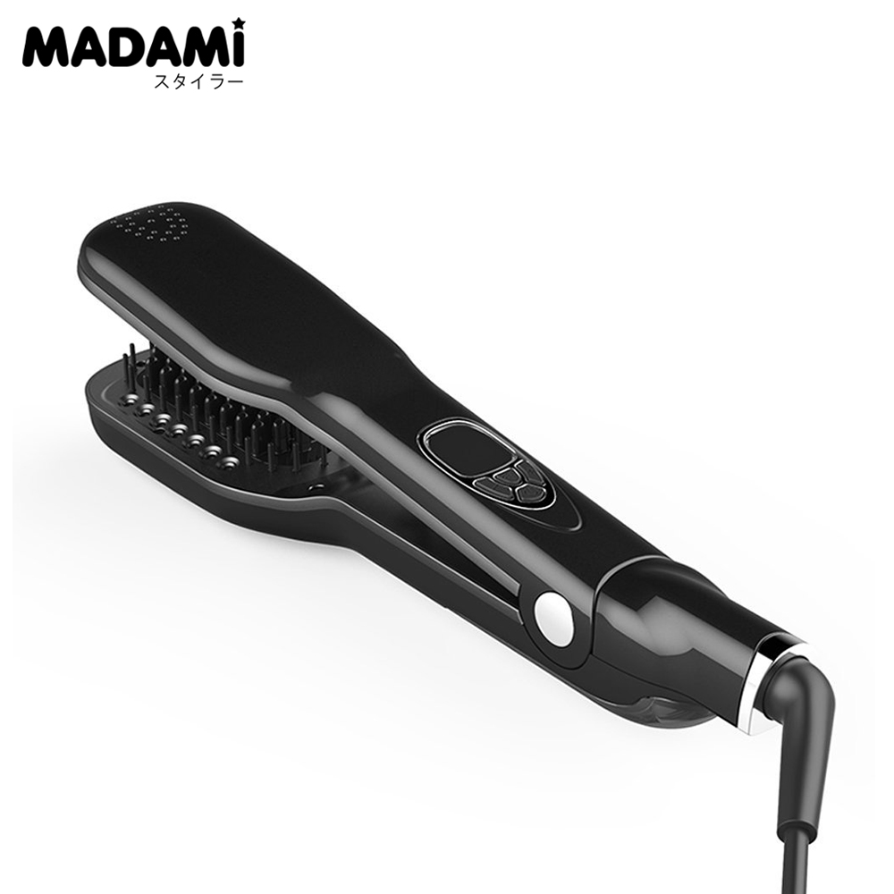 ФОТО New Arrival Patent Owned Steam Brush Hot Hair Straightener Comb Vapor Detangle Hair Styling Tools Hair Straightener Steam Brush