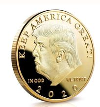 America 45th President Donald Trump Gold Plated Commemorative Coin Novelty Token 2019 The Best Gift for Trump Fans 40mm america president donald trump commemorative coin gold plated colorful metal coin with plastic case
