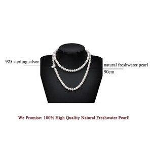 Image 5 - Dacqua dolce nappa lunga collana di perle donne, reale naturale collana di perle da sposa corpo multi strato di colore per migliore amico delle ragazze