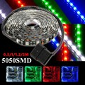 Top Quality 50/100/120/200cm 5050 LED Waterproof Flexible Strip Background Light PC Computer Case Adhesive Strip Light DC12V