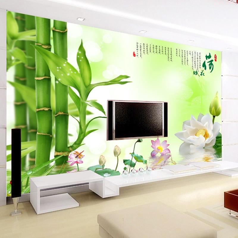 Revestimientos de paredes de tela compra lotes baratos for Mural pared personalizado