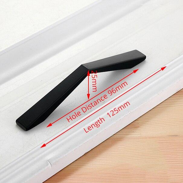 KAK американский стиль черный шкаф ручки цельный алюминиевый сплав кухонный шкаф ручки для выдвижных ящиков оборудование для обработки мебели - Цвет: Handle-2108C-96