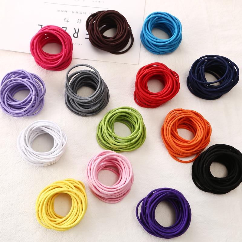 Brand(KAKU) 20pcs/bag Certified Products 2015 New 4.5CM Hair Holder Rubber Bands Hair Elastic Accessories Girl Women Tie Gum